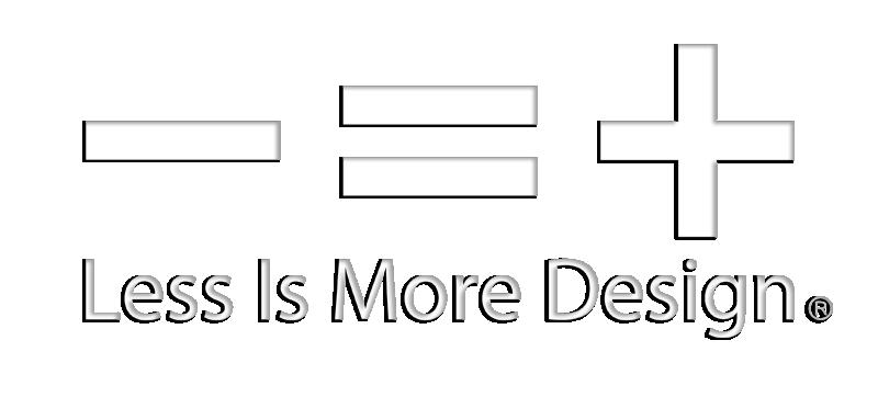 less is more logo design driverlayer search engine. Black Bedroom Furniture Sets. Home Design Ideas