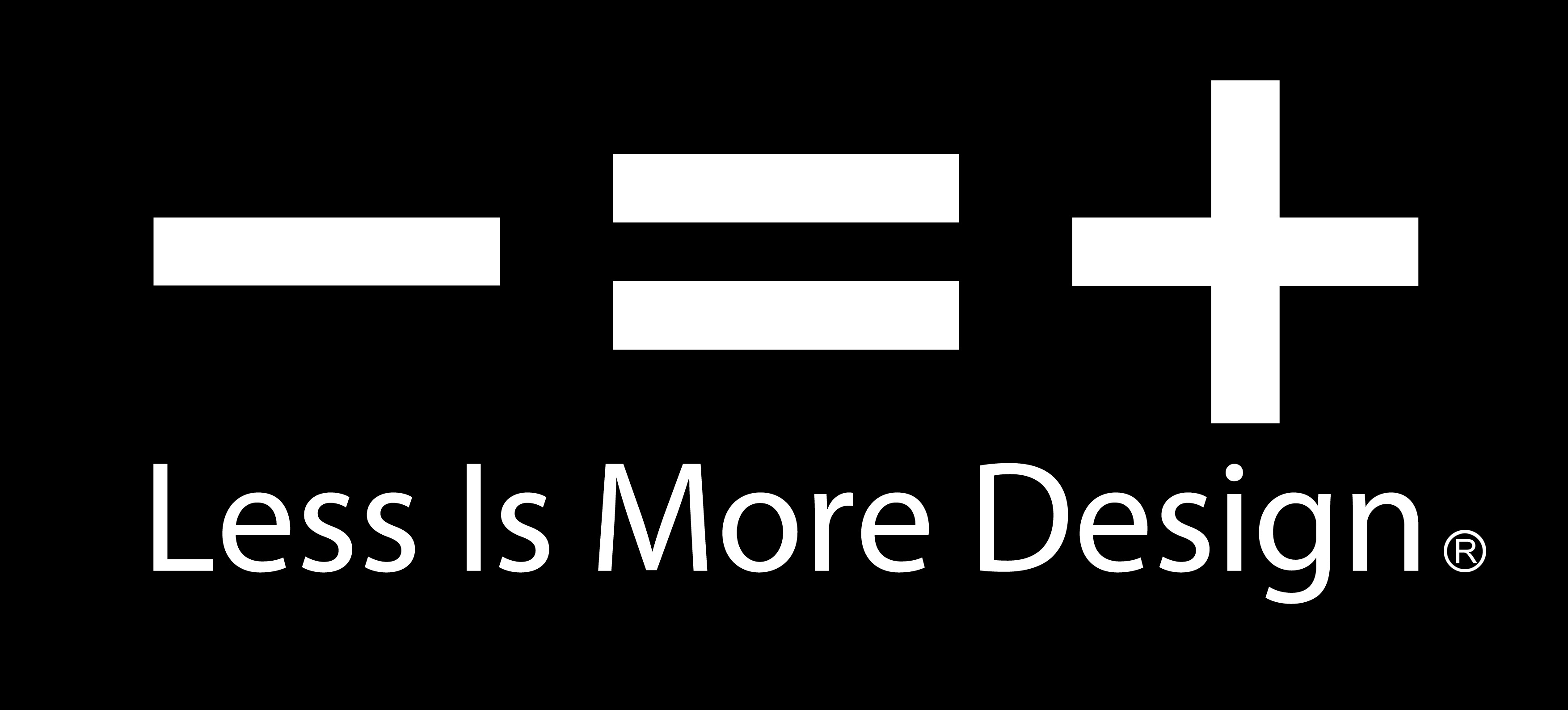 less is more logo black sicart smith architects
